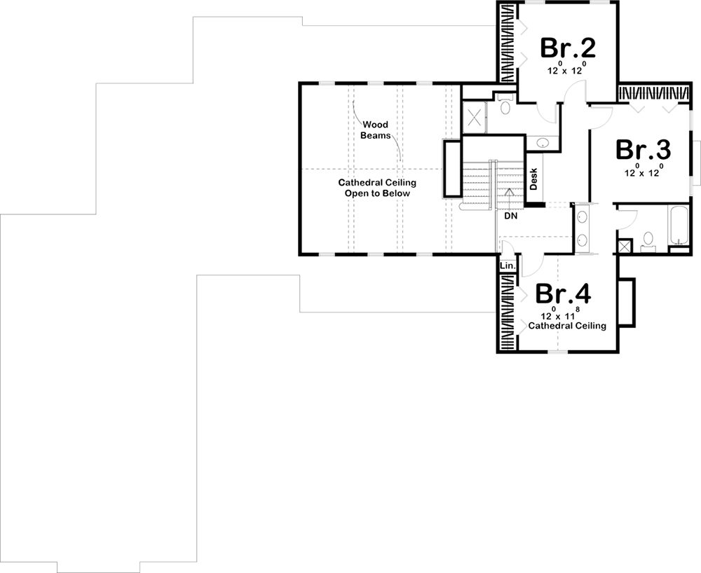 Second Floor for House Plan #963-00153