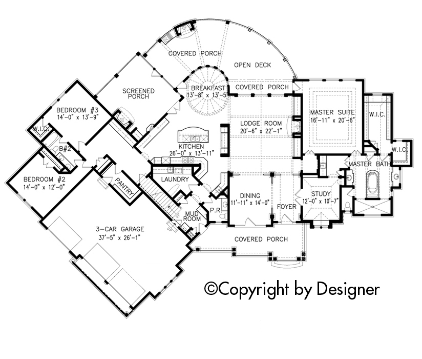 Mountain Rustic Plan 4440 Square Feet 4 Bedrooms 4 Bathrooms