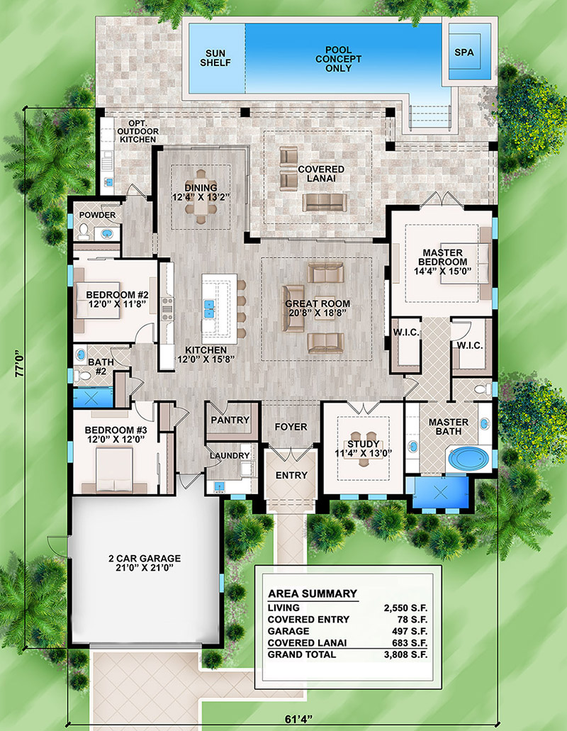 Main Floor for House Plan #207-00061