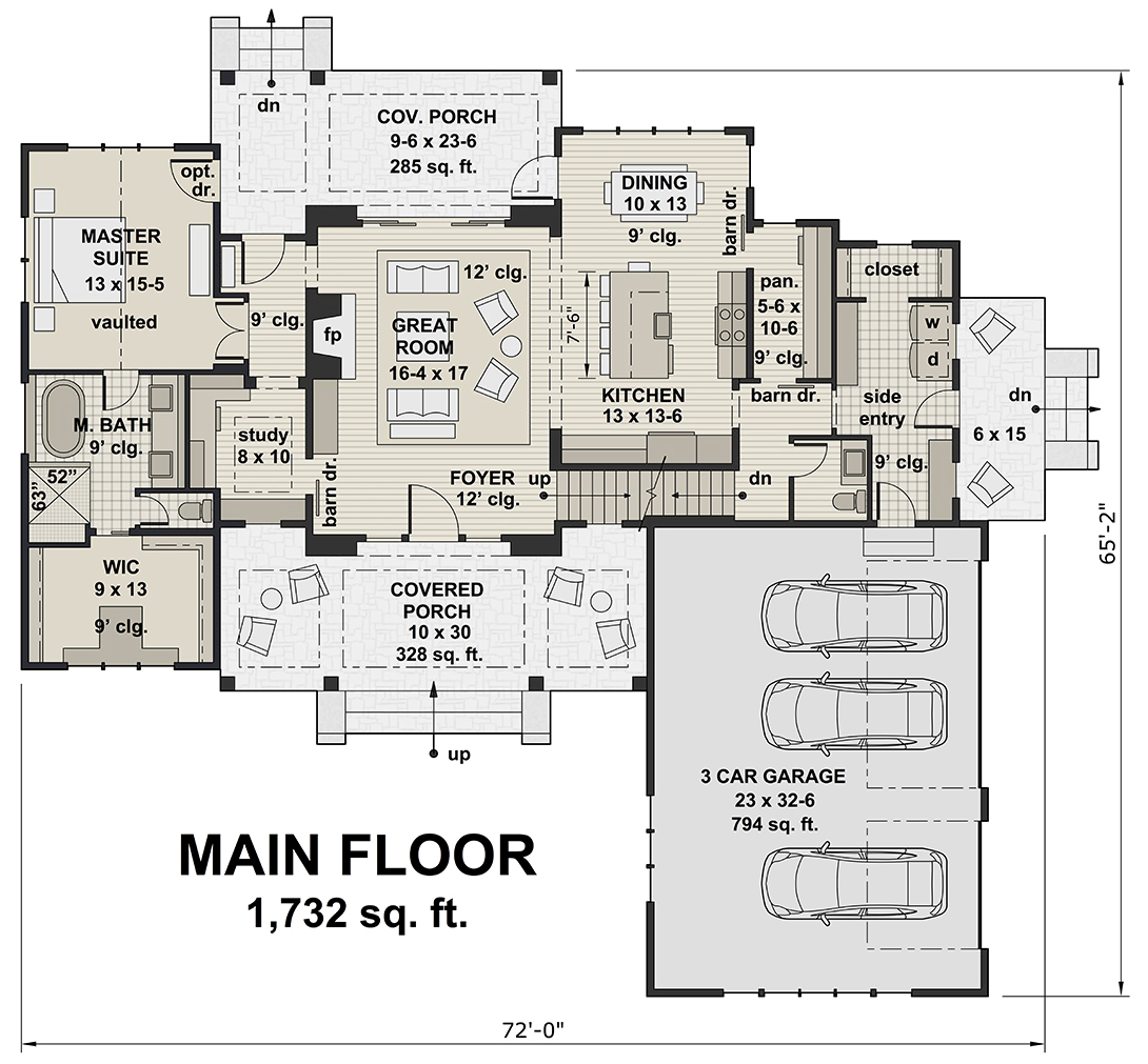 Main Floor for House Plan #098-00296