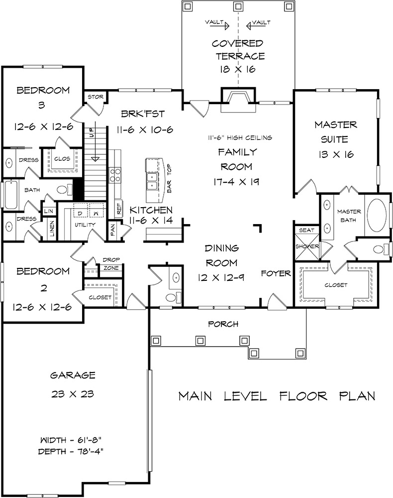 Main Floor for House Plan #6082-00139