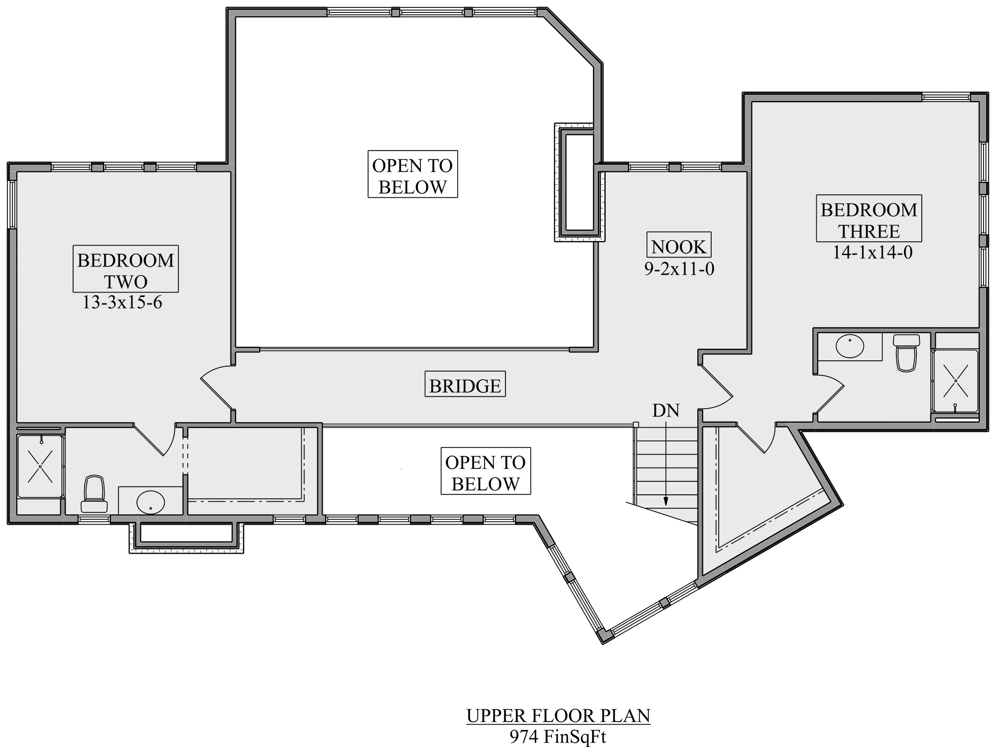 Second Floor for House Plan #5631-00107