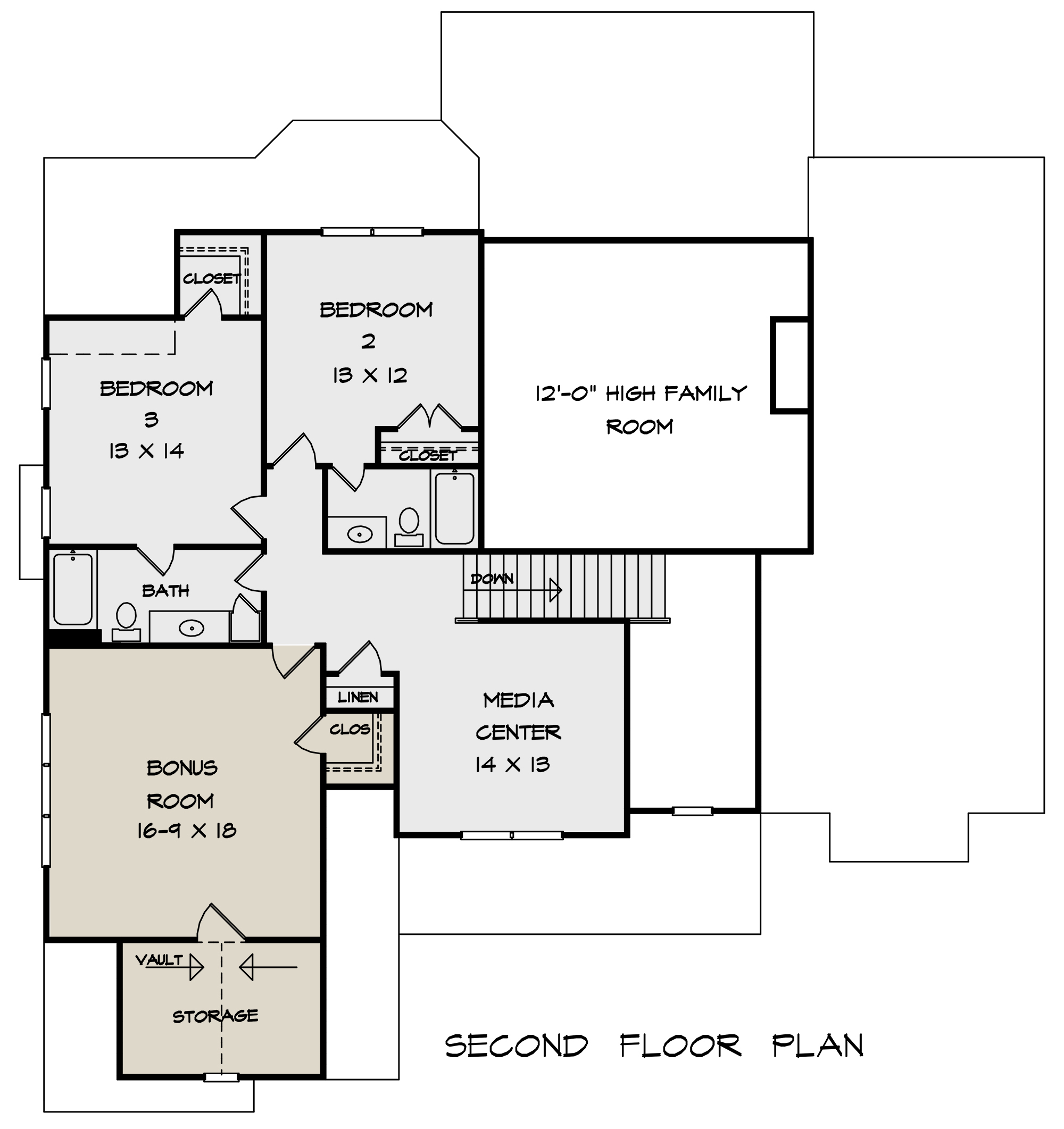 Second Floor for House Plan #6082-00152