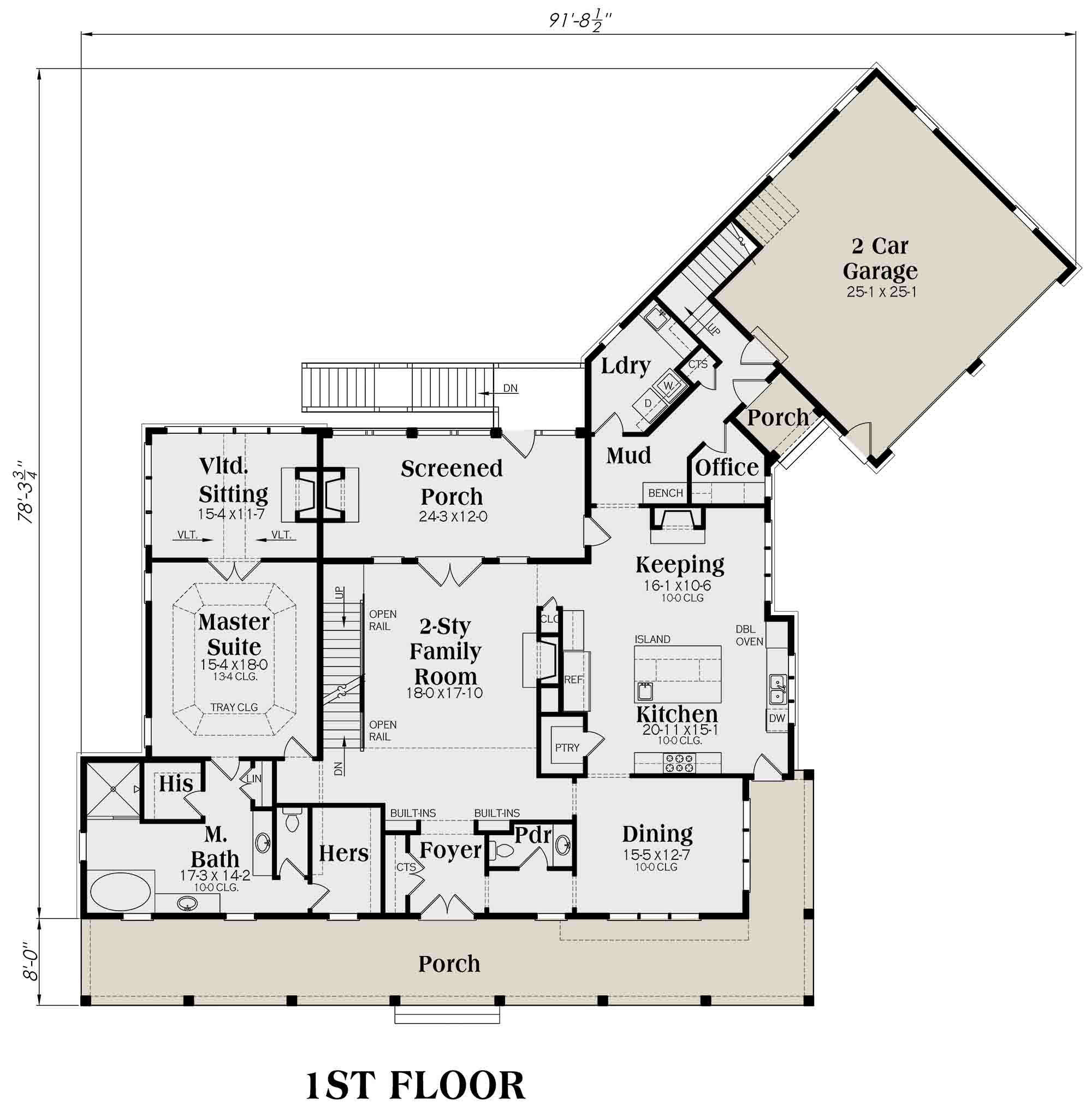 Floorplan 1 for House Plan #009-00277