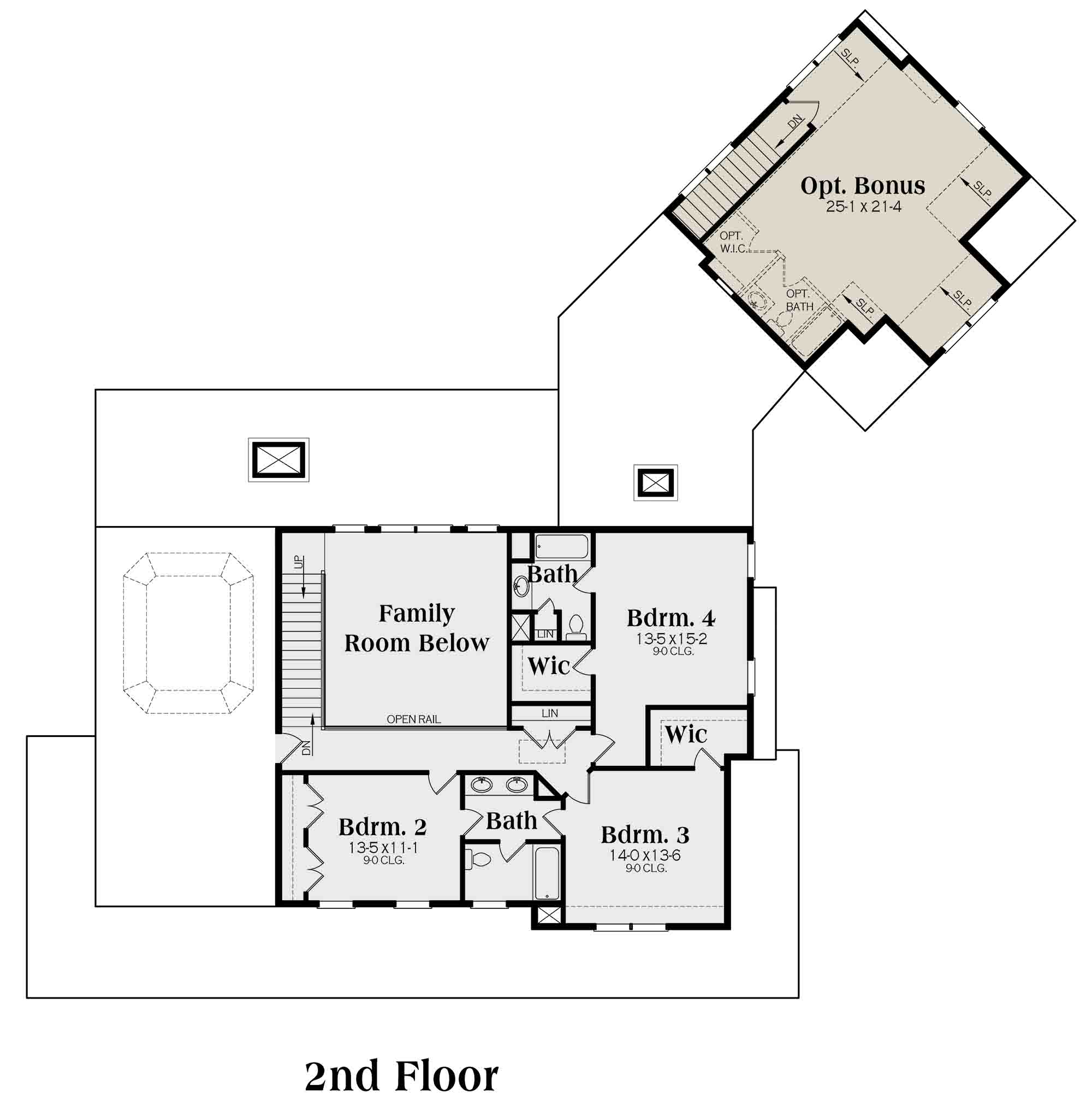 Floorplan 2 for House Plan #009-00277