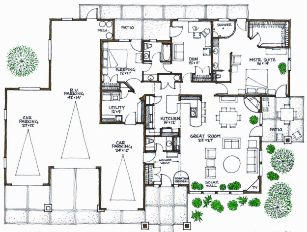 passive solar plan 2 081 square feet 3 bedrooms 2 5 bathrooms 192 00019. Black Bedroom Furniture Sets. Home Design Ideas