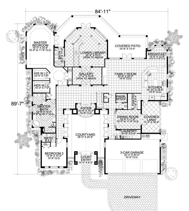 Luxury Plan 6041 Square Feet 4 Bedrooms 4 5 Bathrooms