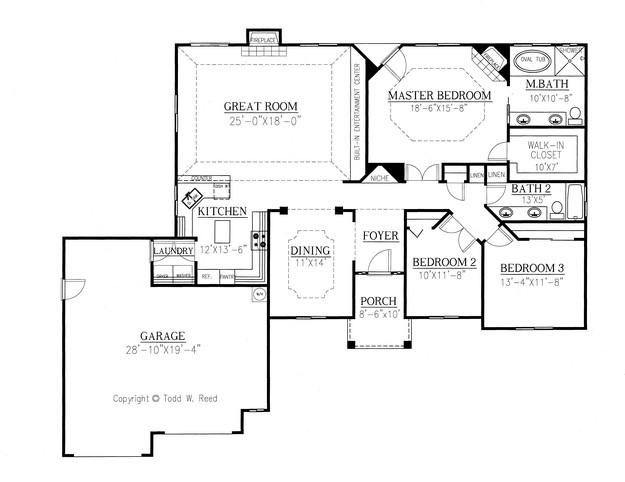 ranch plan  1 959 square feet  3 bedrooms  2 bathrooms