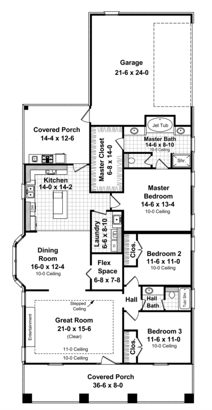 Cottage plan 1 800 square feet 3 bedrooms 2 bathrooms for 1800 square feet