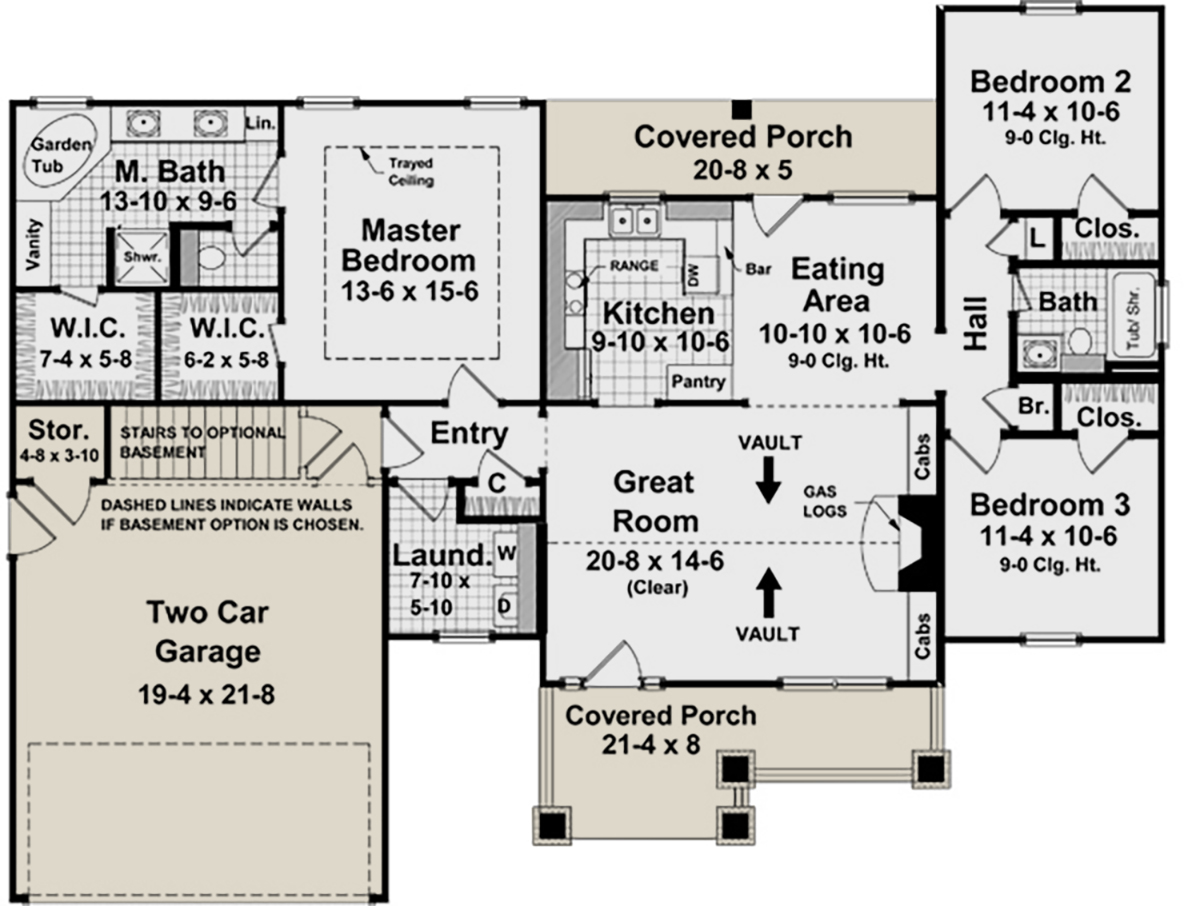 Craftsman plan 1 509 square feet 3 bedrooms 2 bathrooms for 2000 sq ft to yards