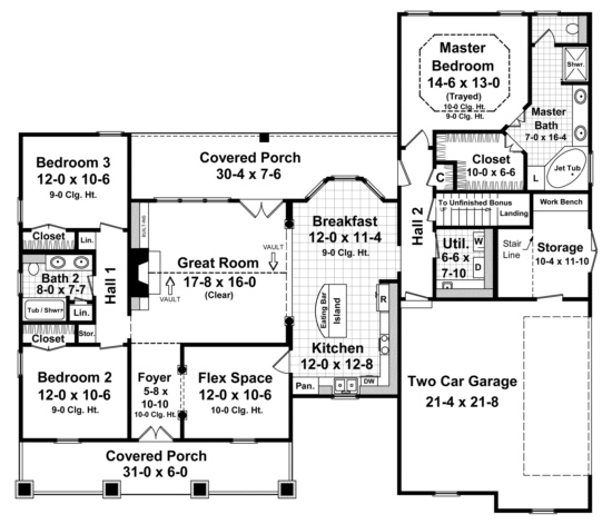 Traditional Plan 1800 Square Feet 3 Bedrooms 2 Bathrooms