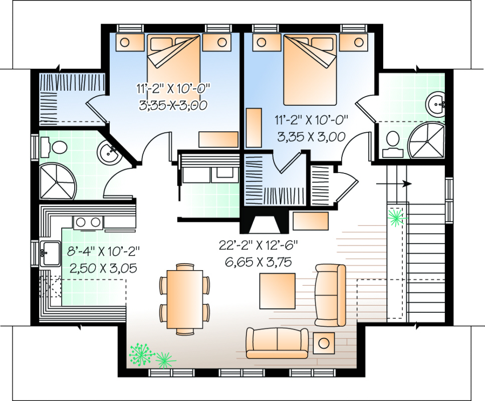 Main Floor for House Plan #034-00109