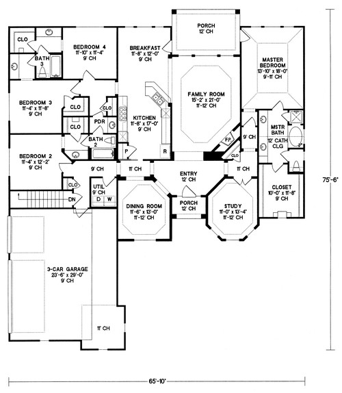 Ranch Plan 2 679 Square Feet 4 Bedrooms 3 Bathrooms