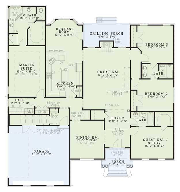 Home Design Getty Museum Villa Floor Plans Small House Plan 3d Home