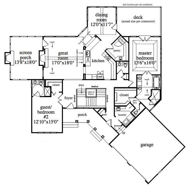 Cottage Plan 3171 Square Feet 4 Bedrooms 3 5 Bathrooms