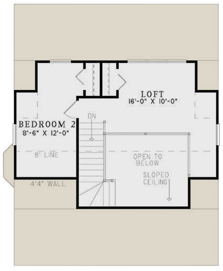 Second Floor for House Plan #110-00632
