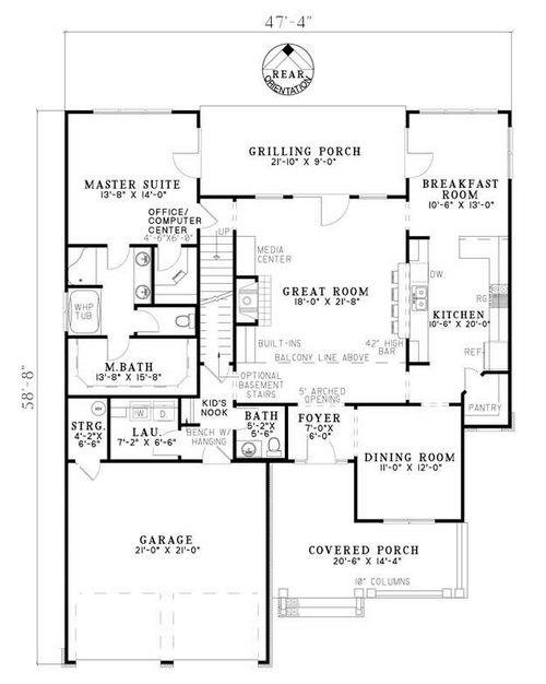 Craftsman Plan 2 470 Square Feet 4 Bedrooms 2 5 Bathrooms 110 00638
