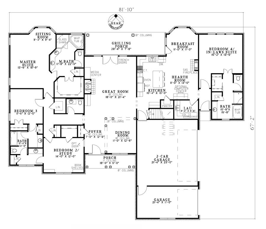 European plan 2 952 square feet 4 bedrooms 3 5 for 110 square feet room