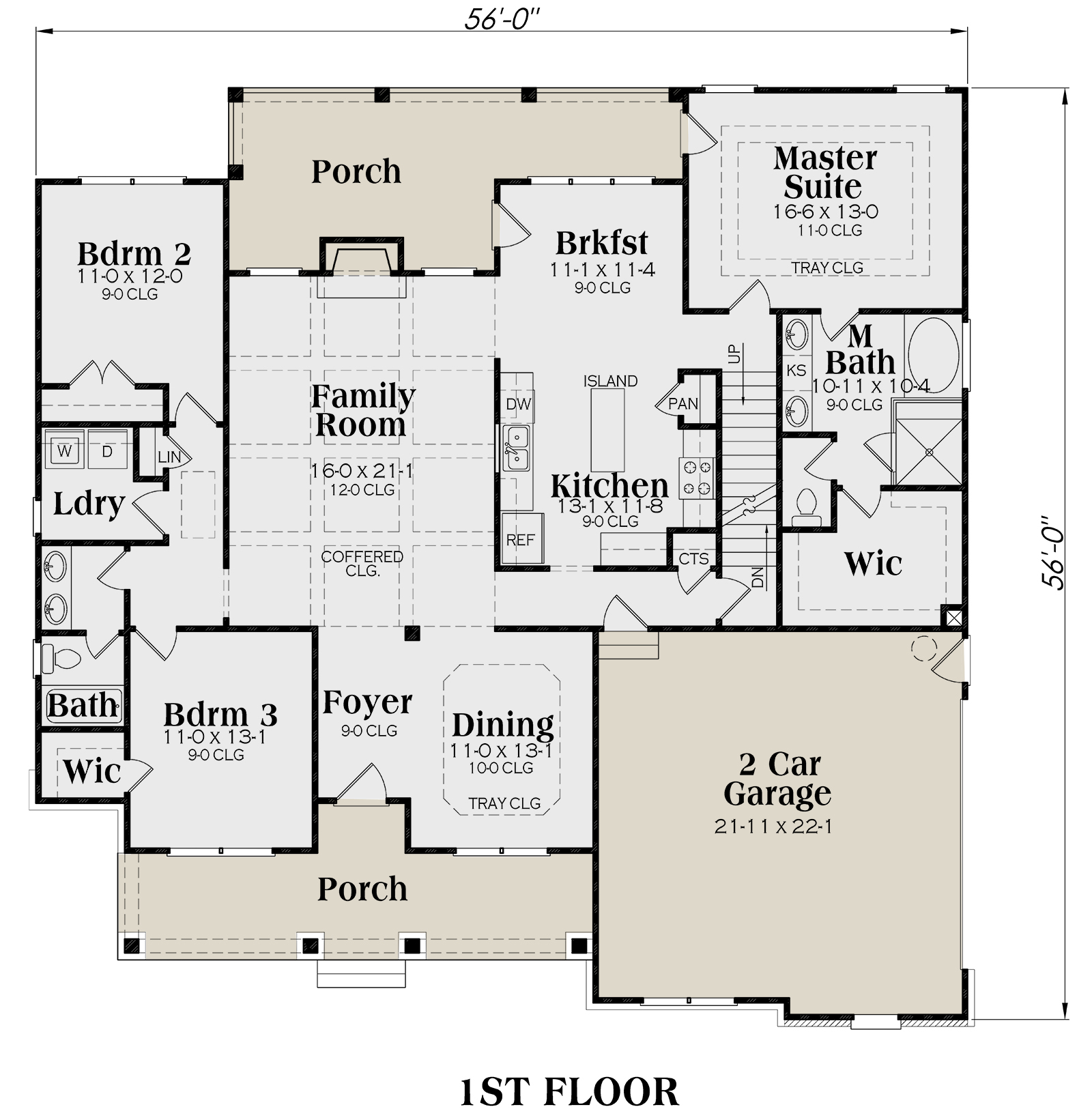 Main Floor for House Plan #009-00072