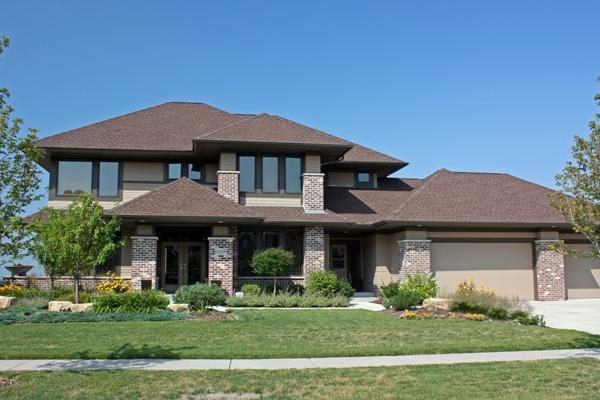 Prairie style house plans craftsman home floor plan Prarie house plans