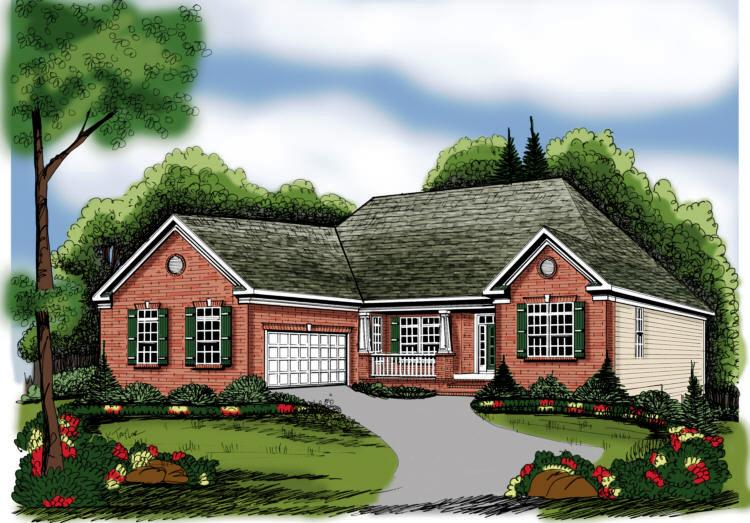 Ranch Style House Plans  One Story Home Design & Floor Plans