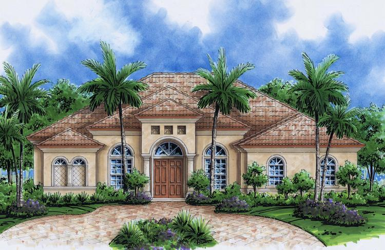Florida style plans mediterranean home designs for Custom home plans florida