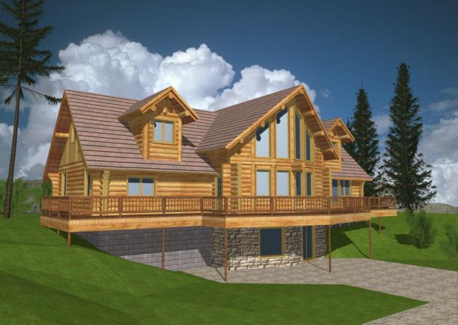 2 bedroom log homes