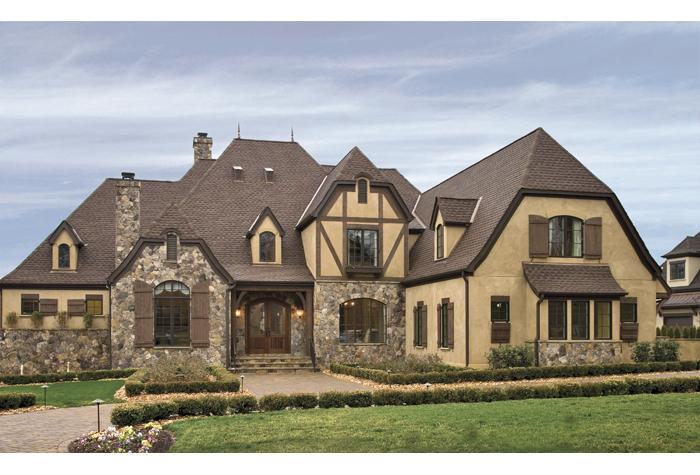 Tudor House Plans-Perry Home Plans