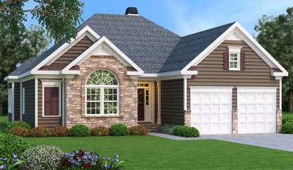 3 Bed, 2 Bath, 1851 Square Foot House Plan - #009-00083