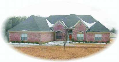 5 Bed, 4 Bath, 3105 Square Foot House Plan - #053-02129