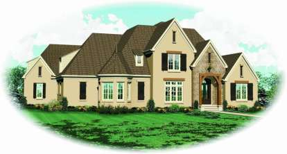 5 Bed, 3 Bath, 4062 Square Foot House Plan - #053-02134
