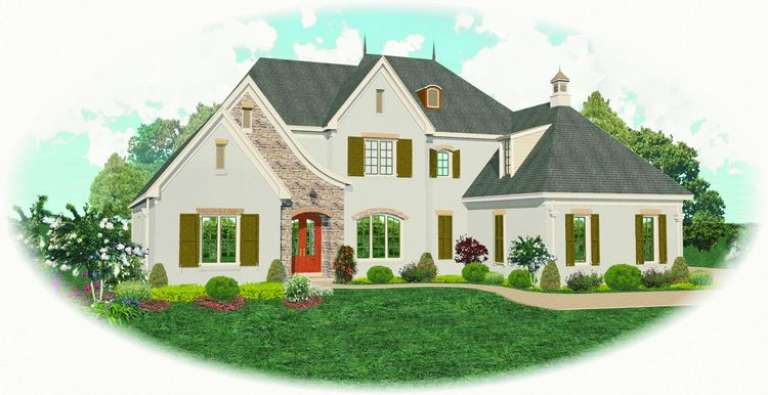 European House Plan #053-02159 Elevation Photo