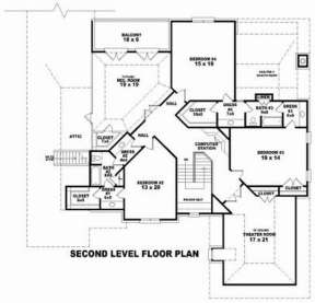 Floorplan 2 for House Plan #053-02159