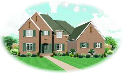 5 Bed, 4 Bath, 5274 Square Foot House Plan - #053-02165