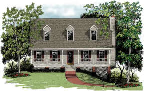 Country House Plan #036-00038 Elevation Photo