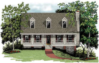 3 Bed, 2 Bath, 1643 Square Foot House Plan - #036-00038