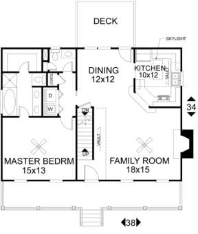 First Floor for House Plan #036-00038
