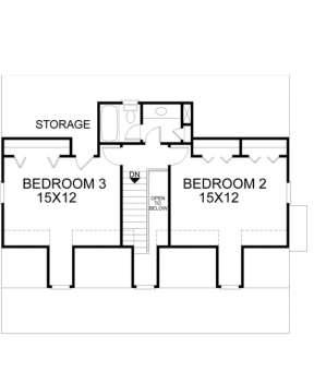 Second Floor for House Plan #036-00038