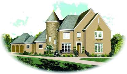 5 Bed, 4 Bath, 5342 Square Foot House Plan - #053-02183