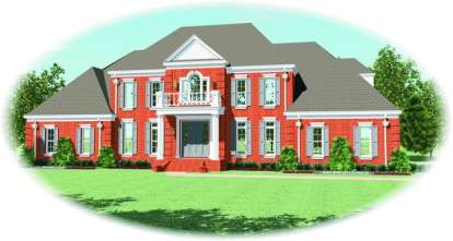 4 Bed, 3 Bath, 4843 Square Foot House Plan - #053-02187