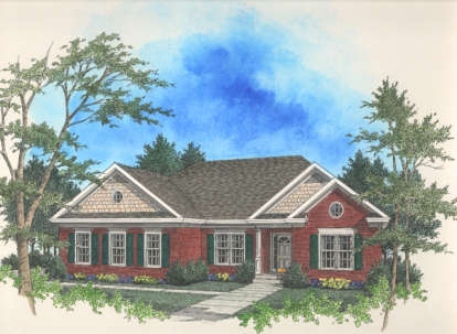 3 Bed, 2 Bath, 1681 Square Foot House Plan - #036-00040