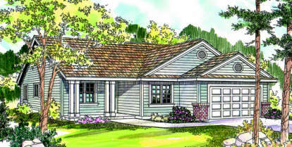 3 Bed, 2 Bath, 1768 Square Foot House Plan - #035-00311