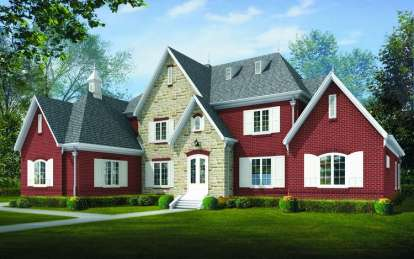 5 Bed, 4 Bath, 5870 Square Foot House Plan - #053-02221