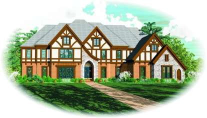 6 Bed, 4 Bath, 7019 Square Foot House Plan - #053-02226
