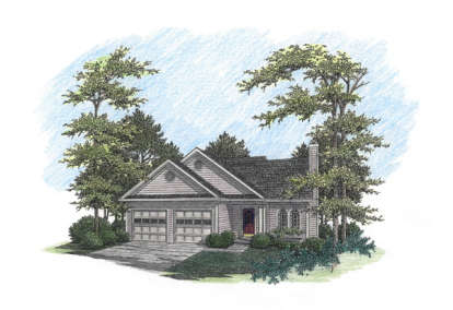 3 Bed, 2 Bath, 1621 Square Foot House Plan - #036-00041