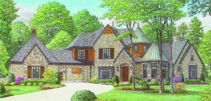 4 Bed, 4 Bath, 5880 Square Foot House Plan - #053-02234
