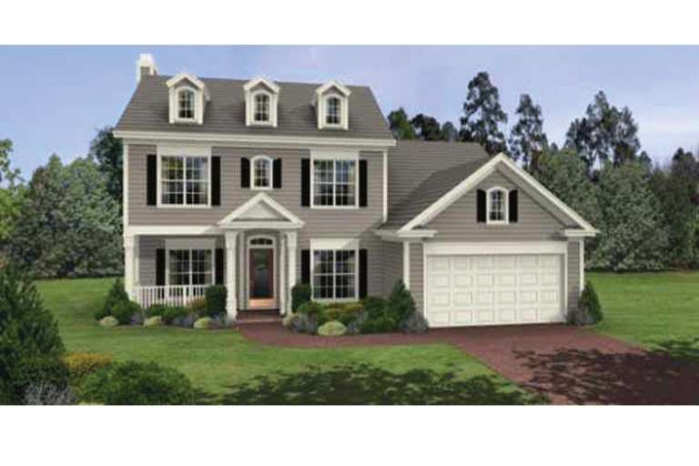 Traditional House Plan #036-00042 Elevation Photo