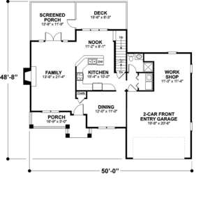 First Floor for House Plan #036-00042