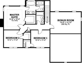 Second Floor for House Plan #036-00042