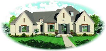 5 Bed, 3 Bath, 5411 Square Foot House Plan - #053-02241